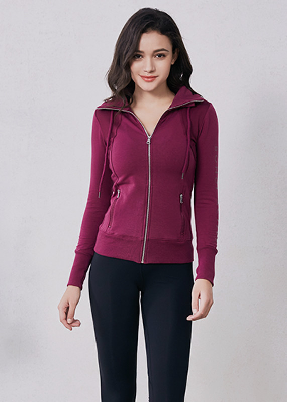 Womens gym wear lightweight full Zip Running Track Jacket HW19004