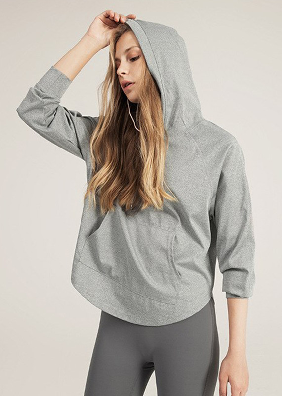 Pullover Long Sleeves Ultra Soft Women's customized sports hoodies HW19001