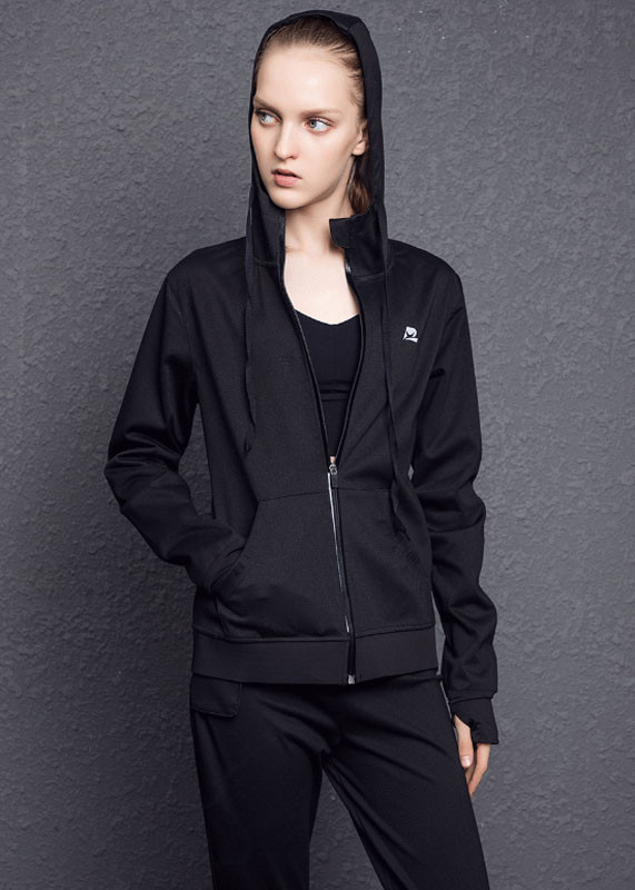 custom design sweatshirts Drawstring at Hood Waterproof Women Jacket HW19002