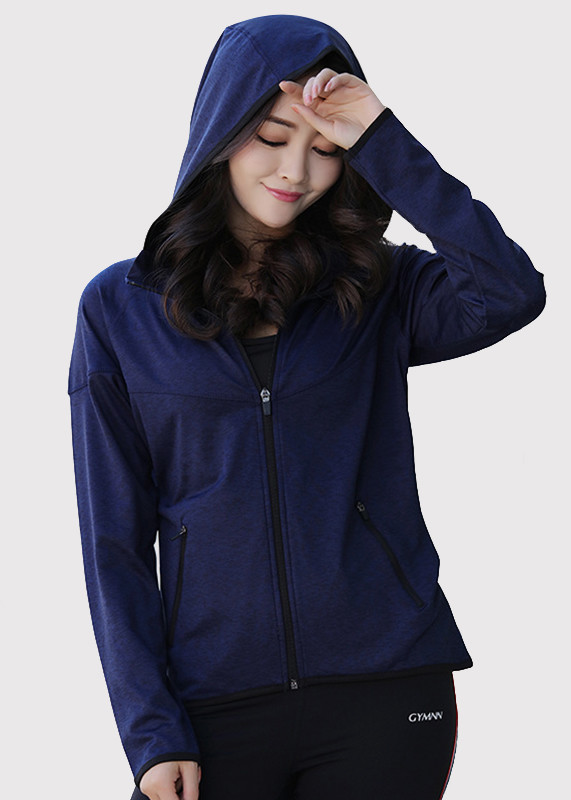 Women hoodies Full Zip-up Long Sleeve slim  Hoodie HW19003