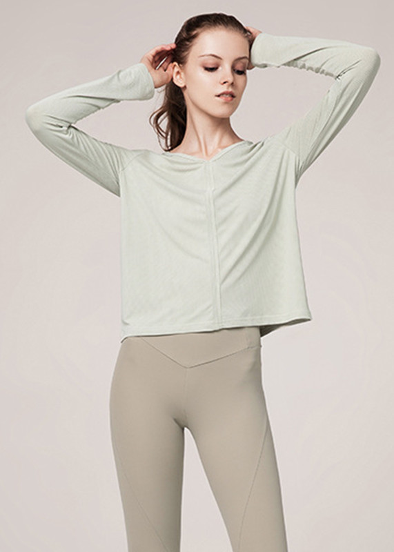 sporty outfits Womens's Quick Dry Performance V neck womens exercise shirts  SW19002