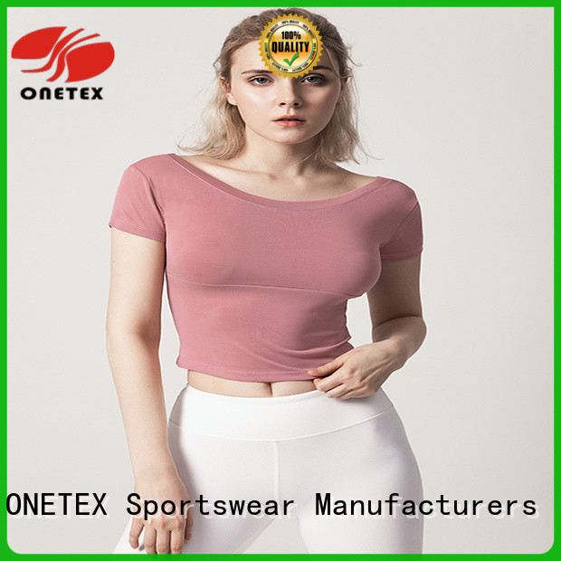 ONETEX quick-dry fabric ladies fitness clothes Suppliers for sport