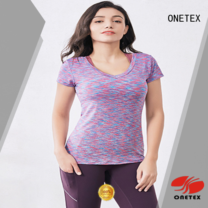 moisture permeability exercise shirts factory for work out