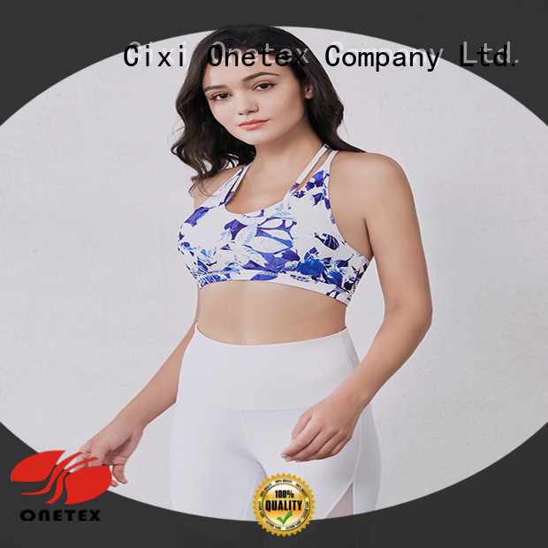 ONETEX natural best women's sports bra wholesale for work out
