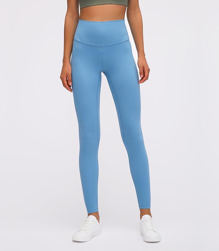 High Quality Moisture Wicking Soft Fabric Yoga Leggings Women's High Waist Hip Running Tight Elastic Fitness Pants L19011 Wholesale-ONETEX