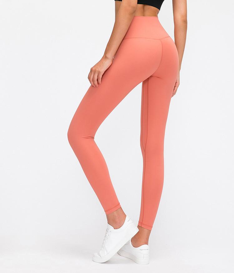 product-High Quality Moisture Wicking Soft Fabric Yoga Leggings Women's High Waist Hip Running Tight-2