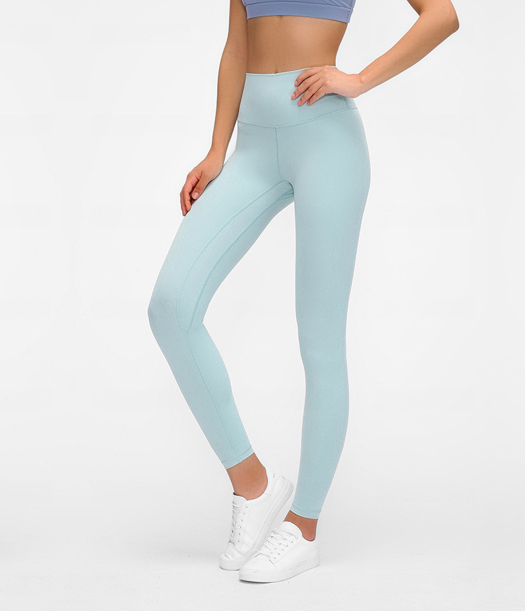 product-High Quality Moisture Wicking Soft Fabric Yoga Leggings Women's High Waist Hip Running Tight-3