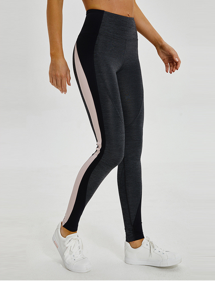 2020 New Style Hip-lifting running tight stretch wearing fitness pants  high-waisted splice color women's Yoga Pants